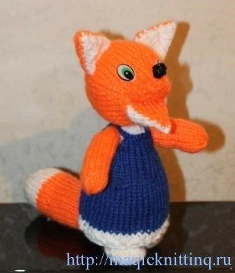 как связать лисичку