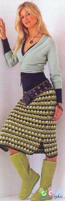 Вязаные юбки крючком со