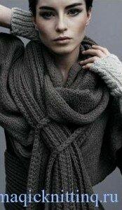 Вязание шарфов фото