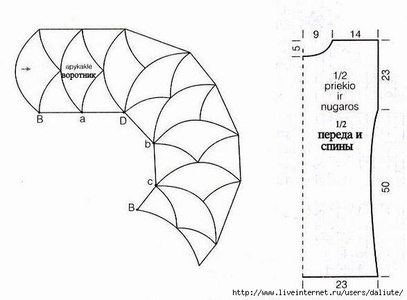 Вязание спицами чешуйки дракона схема 31