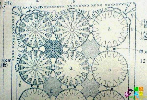 вязание крючком коврики схемы