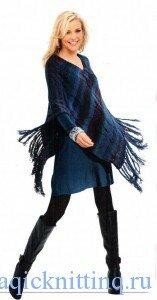 Вязание спицами для женщин пончо