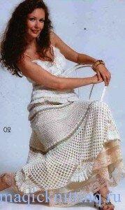 Длинная юбка крючком 8 - Клуб Модного