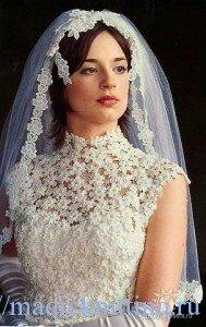 Свадебные платья вязанные крючком