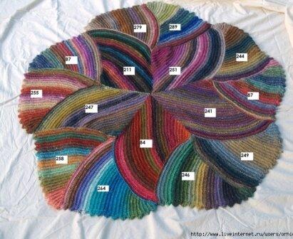 Вязание коврика крючком по