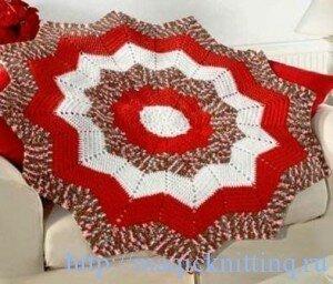 вязание ковриков крючком для начинающих