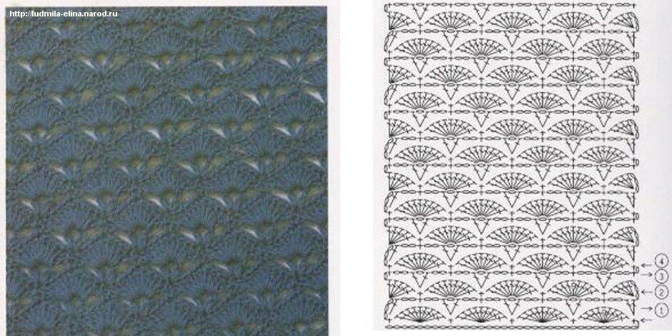 Схема для вязания лифа,