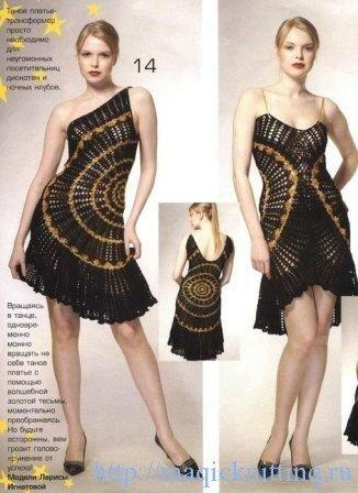 Вязанные летние платья со схемами