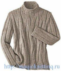 вязание спицами свитер для мужчин