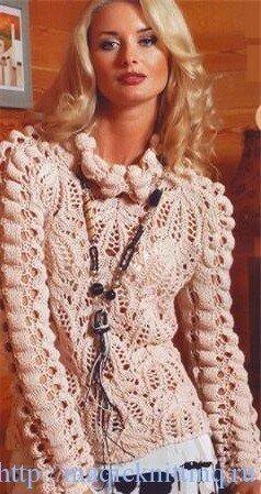 Вязание свитера спицами. Для женщин