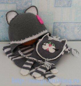 шарфик для ребенка спицами
