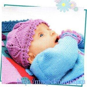 Вязание шапочек для малышей