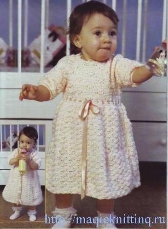 платье крючком для малышки