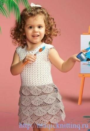 Летнее платье для девочки крючком