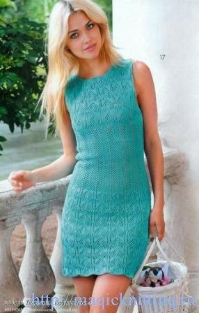 Летнее платье спицами для женщин