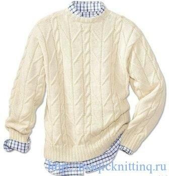 Вязание свитеров для мужчин, спицами схемы